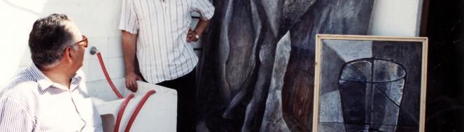 1991_EN MI ESTUDIO DE ANGEL MARIA ARREGUI JUNTO A MI PADRE